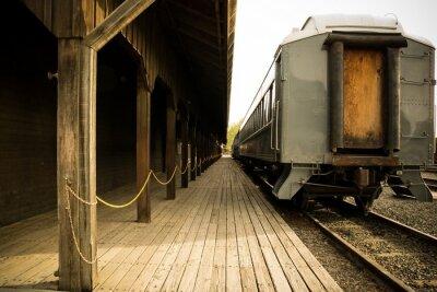 Obraz Stary pociąg na stacji