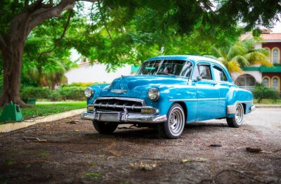 Obraz Stary samochód na Kubie