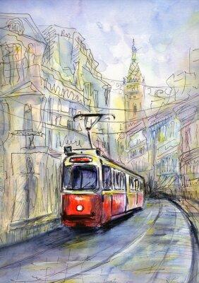 Obraz Stary tramwaj