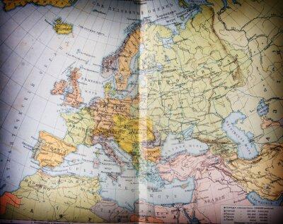 Obraz Stary XIX wieku geograficzne mapbook otwarty