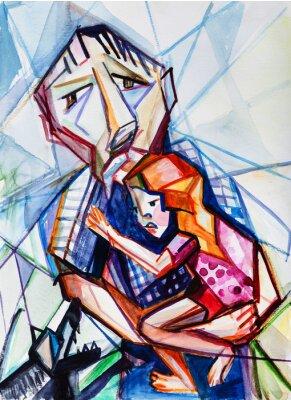 Obraz Starzec i dziewczyna