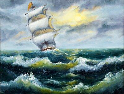 Obraz Statek w oceanie