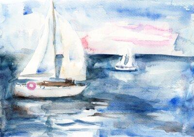 Obraz Statki na morzu