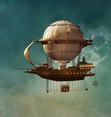 Obraz Steampunk fantazja sterowiec