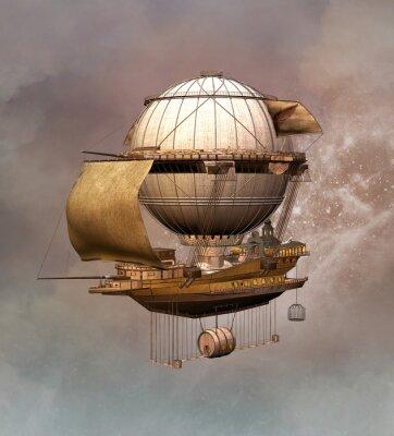 Obraz Steampunk rocznika sterowiec