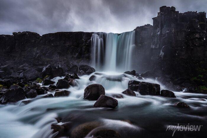 Obraz Steiniger Wasserfall in Island