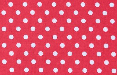 Obraz Stoff Rot Weiß tekstury Punktmuster