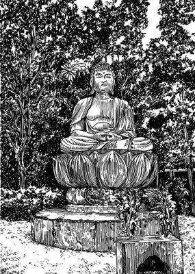 Obraz stone Buddha