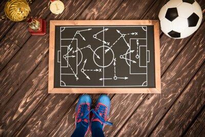 Obraz Strategia gry piłka nożna