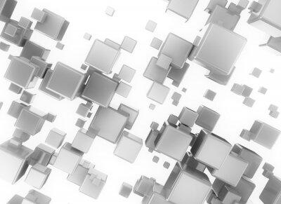 Obraz Streszczenie 3d digital cubesisolated na białym tle