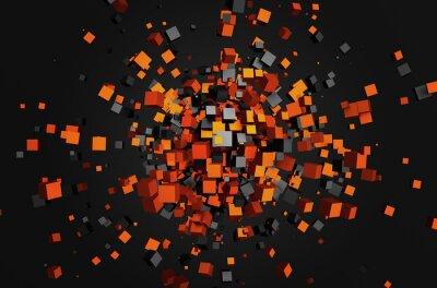 Obraz Streszczenie 3d świadczenia pływające kostki.