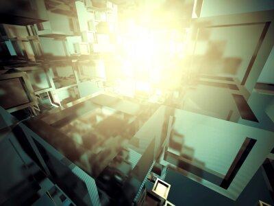 Obraz Streszczenie ciemny metaliczny błyszczące przemysłowe