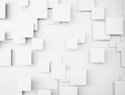 Obraz Streszczenie geometryczny kształt 3d białe kostki