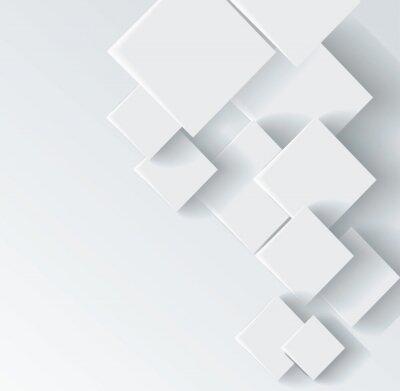 Obraz Streszczenie geometryczny kształt z szarego rombu
