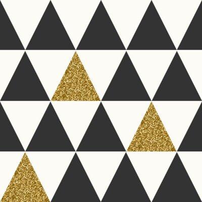Obraz Streszczenie geometryczny wzór bez szwu