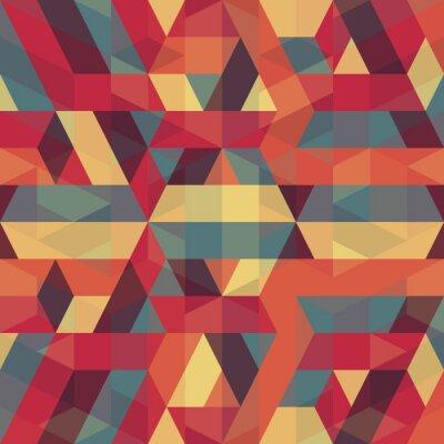 Obraz Streszczenie geometryczny wzór retro