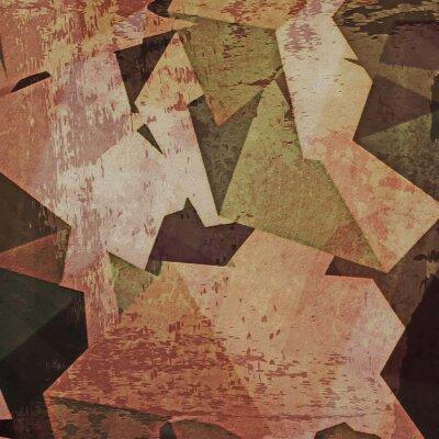 Obraz Streszczenie grunge tle ściany, kubizm