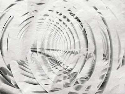 Obraz Streszczenie ilustracji spirala biały