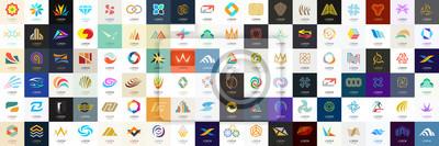 Obraz Streszczenie logo mega kolekcja. Geometryczne abstrakcyjne logo