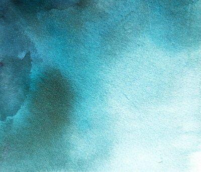 Obraz streszczenie niebieskim akwarela plama, tło, rozwód