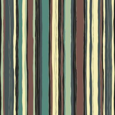 Obraz Streszczenie retro kolory paski wzór. Bez szwu ręcznie rysowane linie