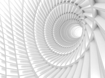 Obraz Streszczenie Tło Biały Tunel Hole