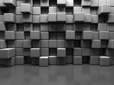 Obraz Streszczenie Tło Szary Cube Pustaki