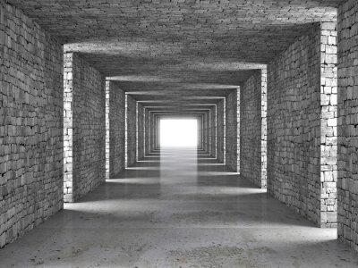 Obraz streszczenie tunelu