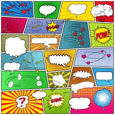 Obraz Streszczenie Zestaw komiksów szablonu