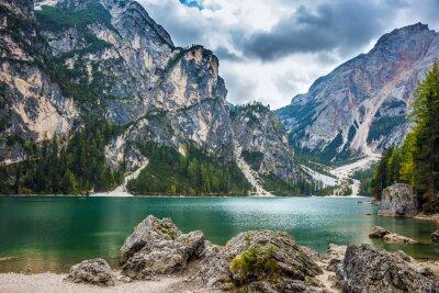 Stroll around alpine lake