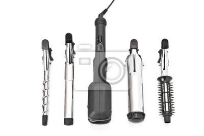 Obraz Stylizacja włosów zestaw z prostownicą i akcesoria curling