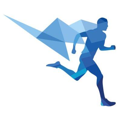 Obraz Stylizowane lekkoatleta, geometryczny wzór