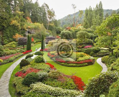 Sunken-ogród na wyspie Vancouver