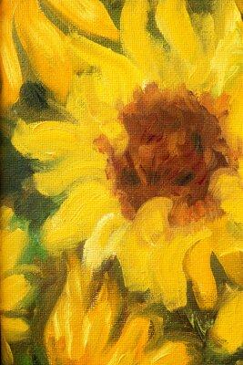Obraz Sunny Słoneczniki obraz olejny na płótnie.