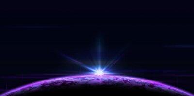 Obraz Sunrise or sunset over the purple planet