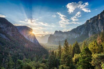 Obraz Sunrise w punkcie tunelu Zobacz vista w Parku Narodowym Yosemite
