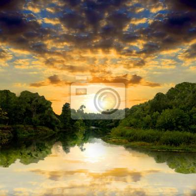 Sunsetr na rzece