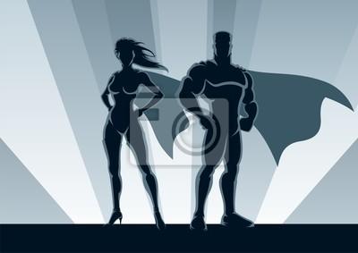 Obraz Superhero Couple