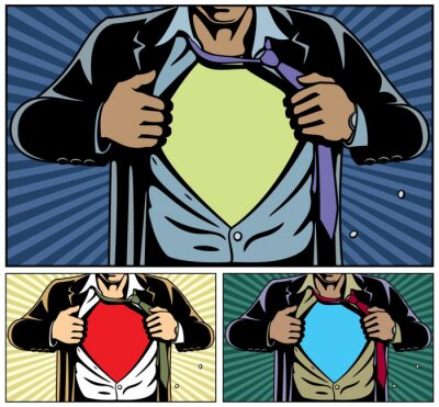 Obraz Superhero Under Cover