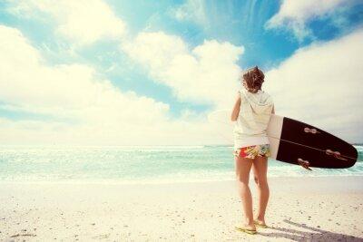 Obraz Surfer girl na plaży