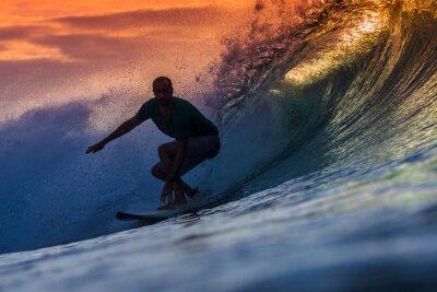 Obraz Surfer na Wspaniała Wave