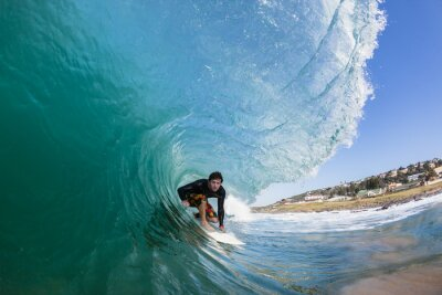 Obraz Surfowanie Inside Wave upaść