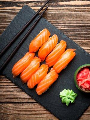 Obraz Sushi z łososia