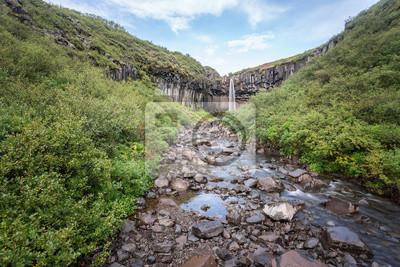 Svartifoss, krajobraz w Islandii