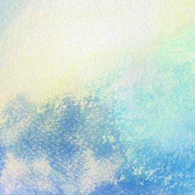 Obraz Światło streszczenie niebieskim tle akwarela namalowane plamy