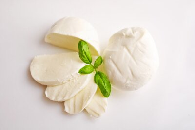Obraz Świeża mozzarella z bazylią