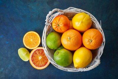 Obraz Świeże owoce cytrusowe