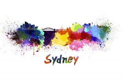 Obraz Sydney skyline w akwareli