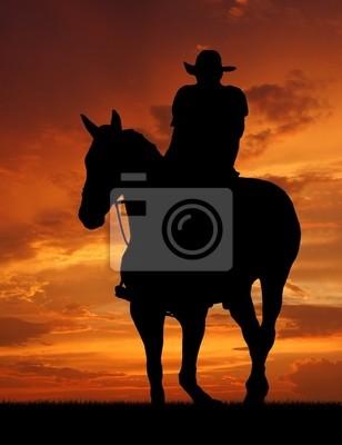 sylwetka kowboj w świcie