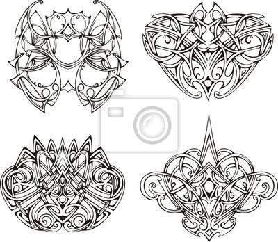Obraz Symetryczne Wzory Tatuaż Węzeł